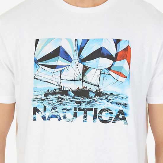 Sailing Graphic T-Shirt,Bright White,large