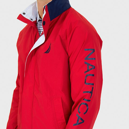 Water Resistant J-Class Jacket,Nautica Red,large