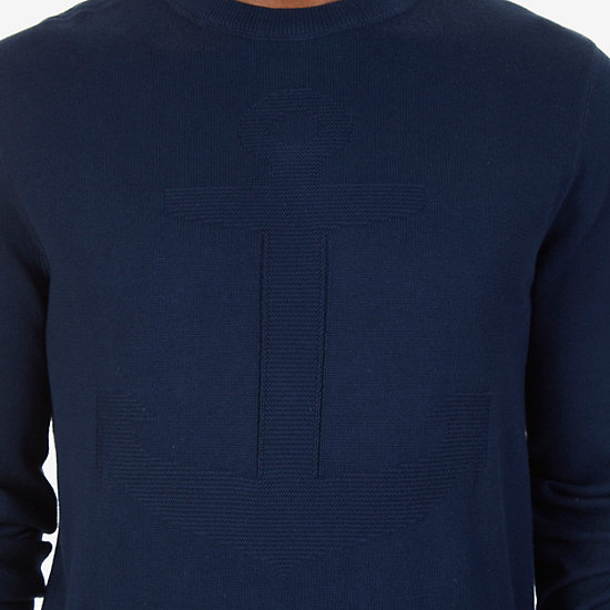 Anchor Sweater,Navy,large