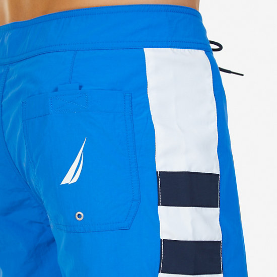 Quick Dry Signature Stripe Board Shorts,True Navy,large