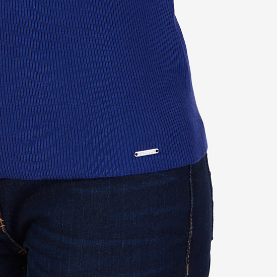 Bell Cuff Sweater,Navy,large