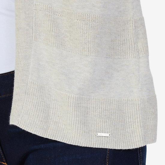 Textured Stripe Flyaway Cardigan,Sand Drift,large