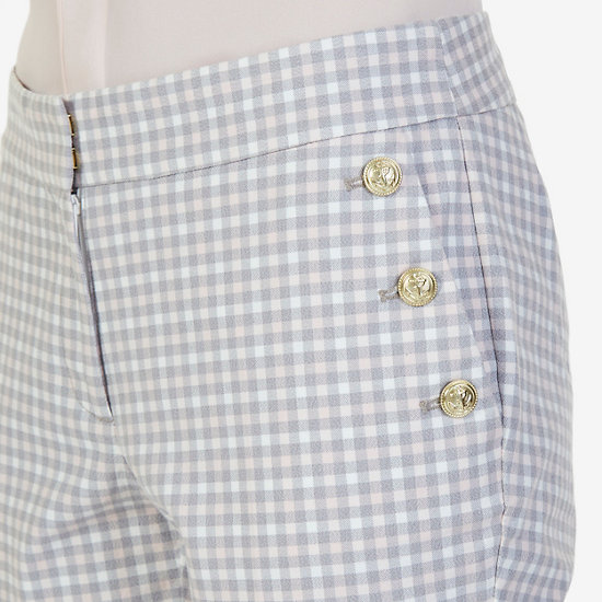 Gingham Sailor Pants,Oxford Pink,large