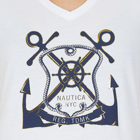 Dual Anchor Tee,Bright White,large