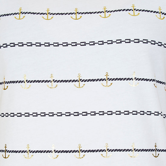 Shimmer Stripe T-Shirt,Bright White,large