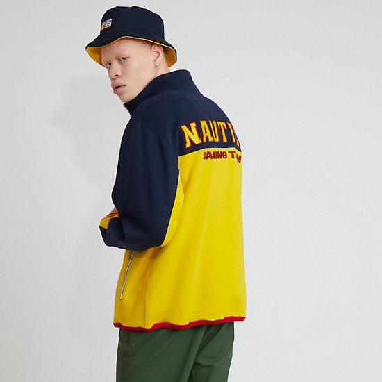 The Lil Yachty Collection by Nautica Full Zip Fleece,Shoreline Yellow,large