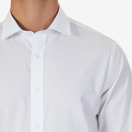 Poplin Classic Fit Iron-Free Long Sleeve Shirt,Chinchilla,large