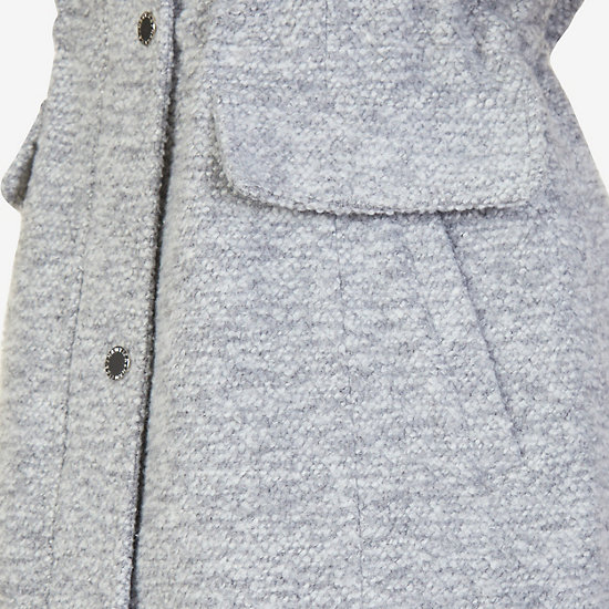Faux Fur Hooded Anorak,Frost Grey Pant,large