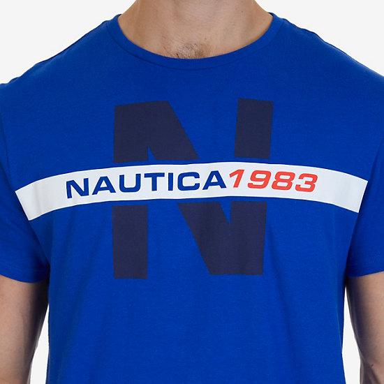 Nautica Big & Tall Nautica 1983 Heritage Graphic T-Shirt,Bright Cobalt,large