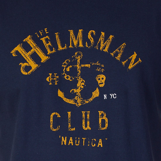 Helmsman Club Graphic T-Shirt,Navy,large