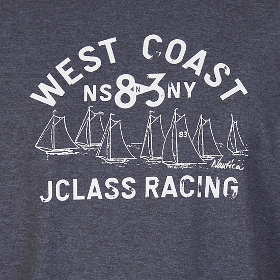 J Class Racing Graphic Tee,Charcoal Hthr,large