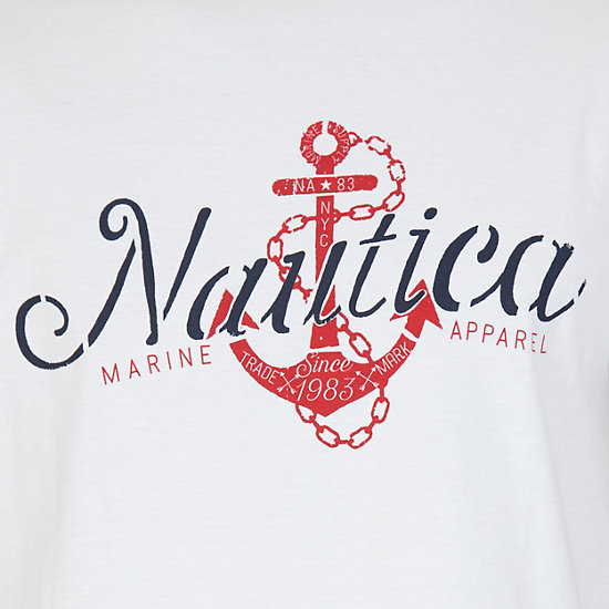 Anchor Graphic T-Shirt,Bright White,large