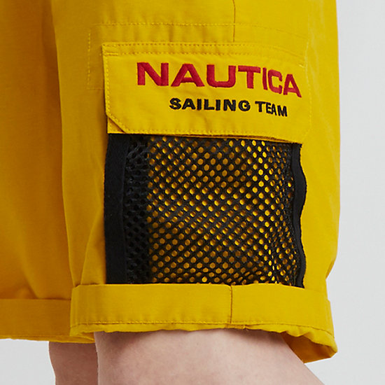 The Lil Yachty Collection by Nautica Longer Length Cargo Shorts,Shoreline Yellow,large
