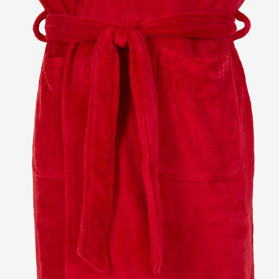 Plush Shawl Collar Robe,Nautica Red,large