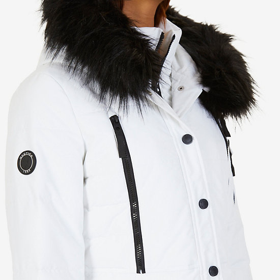 Active Puffer Parka,Bright White,large