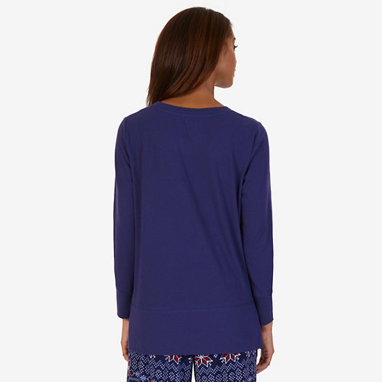 Comfy Sleep Top,Bright Cobalt,large
