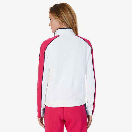 Color Block Heritage Track Jacket,Marshmallow,large