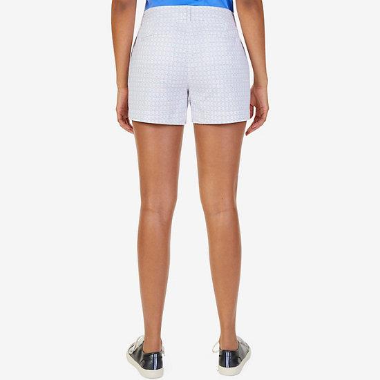 "Geometric Motif Sailor Shorts - 4"" Inseam,Pure Deep B,large"