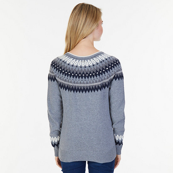 Nordic Fair Isle Sweater,Gunpowder,large