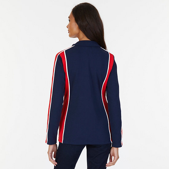 Heritage Zip French Terry Track Jacket,Dreamy Blue,large