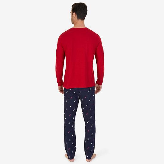J Class Knit Pajama Set,Nautica Red,large