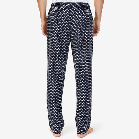 Fleece Anchor & Paisley Pajama Pants,Navy,large