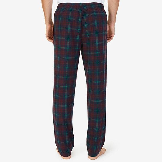 Cozy Fleece Plaid Pajama Pant,Navy,large