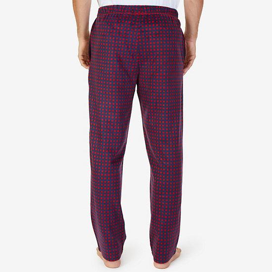 Check Sueded Fleece Pajama Pants,Nautica Red,large
