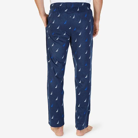 J-Class Sueded Fleece Pajama Pants,Navy,large