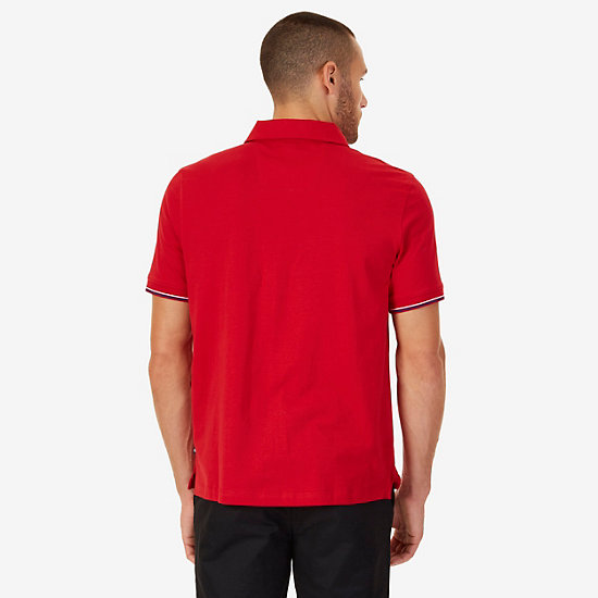 Classic Fit Polo Shirt,Nautica Red,large