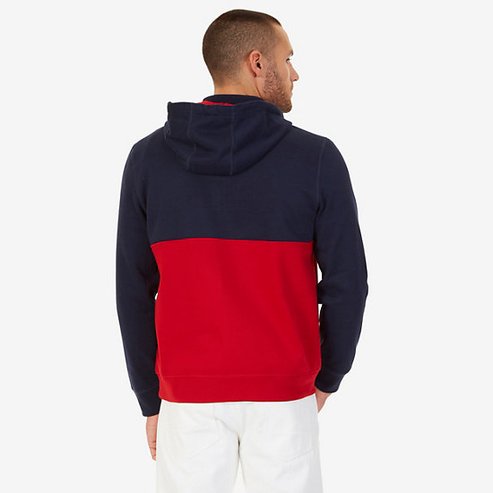 Quarter Zip Active Hoodie,Nautica Red,large