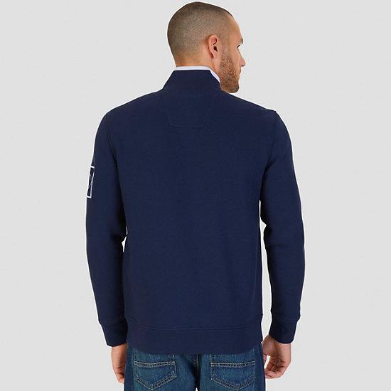 Pieced Stripe Track Jacket,Navy,large