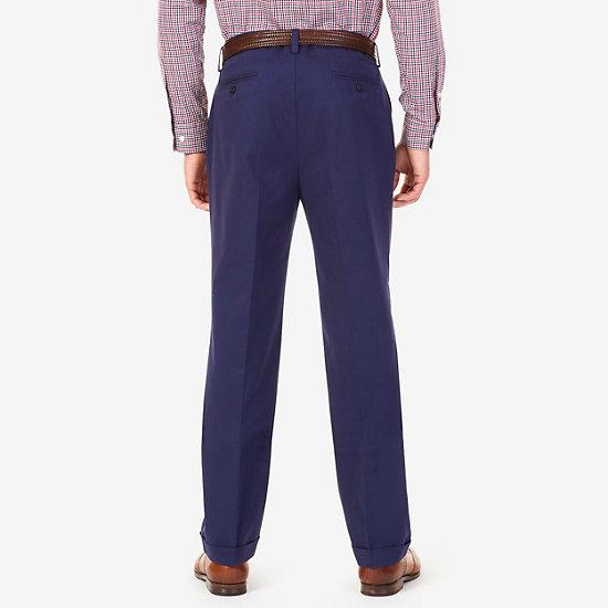 Classic Fit Double Pleat Pants,Peacoat,large