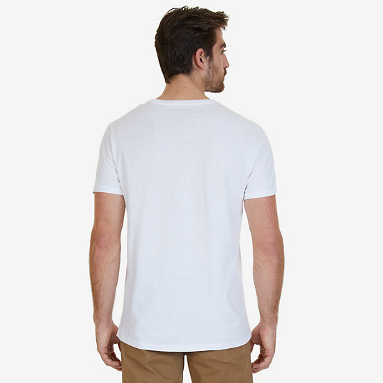 Big & Tall Palm Oar T-Shirt,Bright White,large