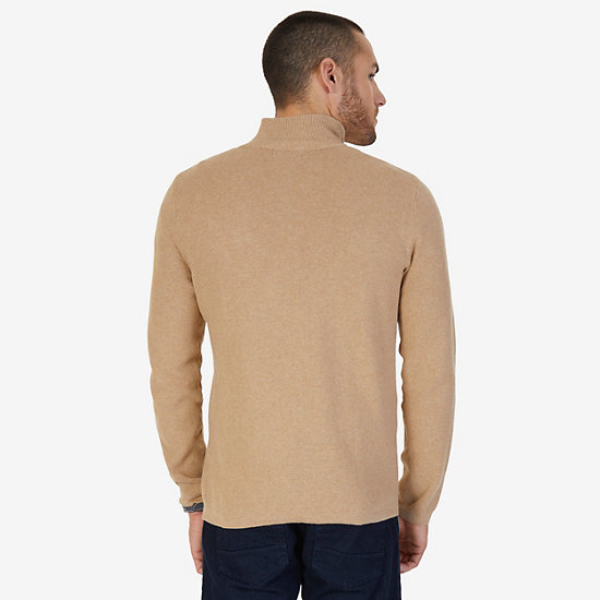 Quarter Zip Pullover Sweater,Espresso,large