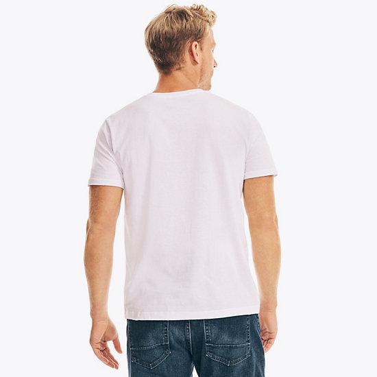 Watercolor Regatta Graphic T-Shirt,Bright White,large