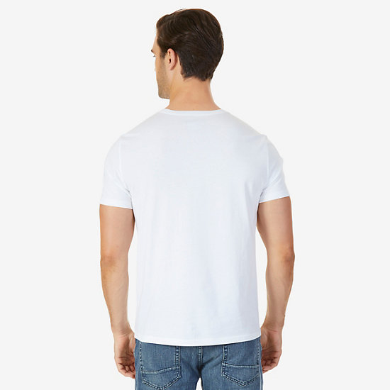 Ports Of Call Graphic T-Shirt,Bright White,large