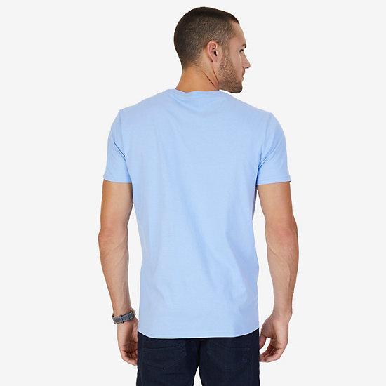Logo Crew T-Shirt,Blue,large
