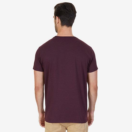 N83 V-Neck T-Shirt,Glory Red,large