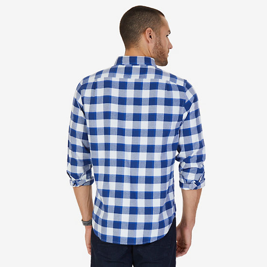 CASUAL FLANNEL TWILL PLAID,Monaco Blue,large