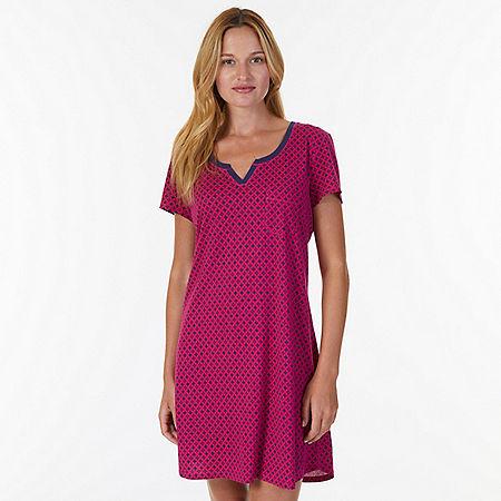 Jersey Knit Sleep Shirt - Star Turquoise