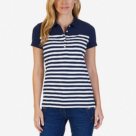 Striped Polo Shirt - Dreamy Blue