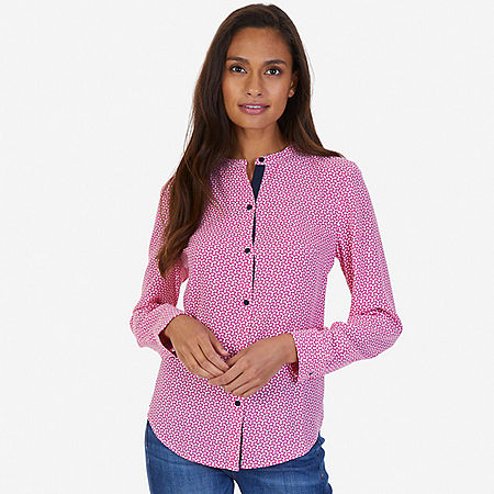 Printed Georgette Blouse - Barely Pink
