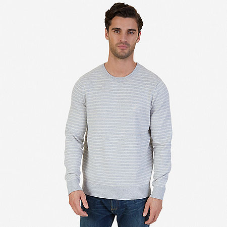 Snowy Small Striped Sweater - Limestone