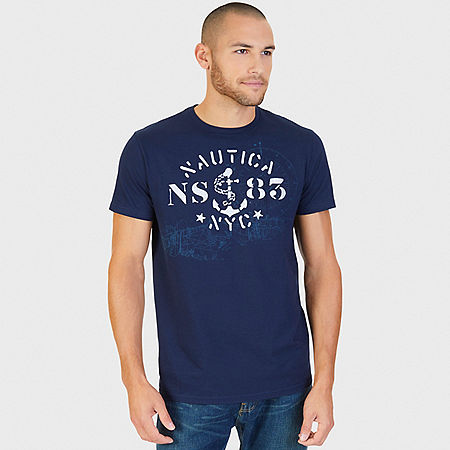 NS83 Graphic T-Shirt - Navy