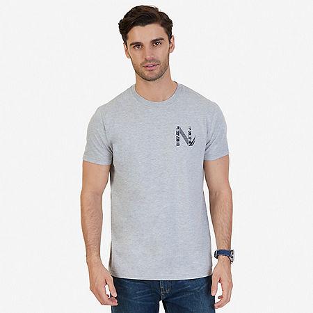 Sailing Flags Graphic T-Shirt - Grey Heather
