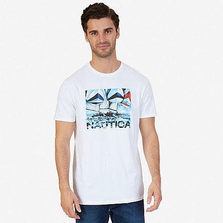 Sailing Graphic T-Shirt - Bright White