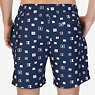 Quick-Dry Allover Sailing Flags Swim Trunks,Navy,small