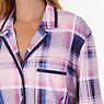 Plaid Jersey Knit Pajama Set,Shipwreck Burgundy,small