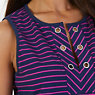 Grommet Striped Sleeveless Top,Dreamy Blue,small